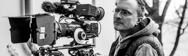 Kameramann Pierre Pasler auf einem Dreh mit Sony Professional Camera